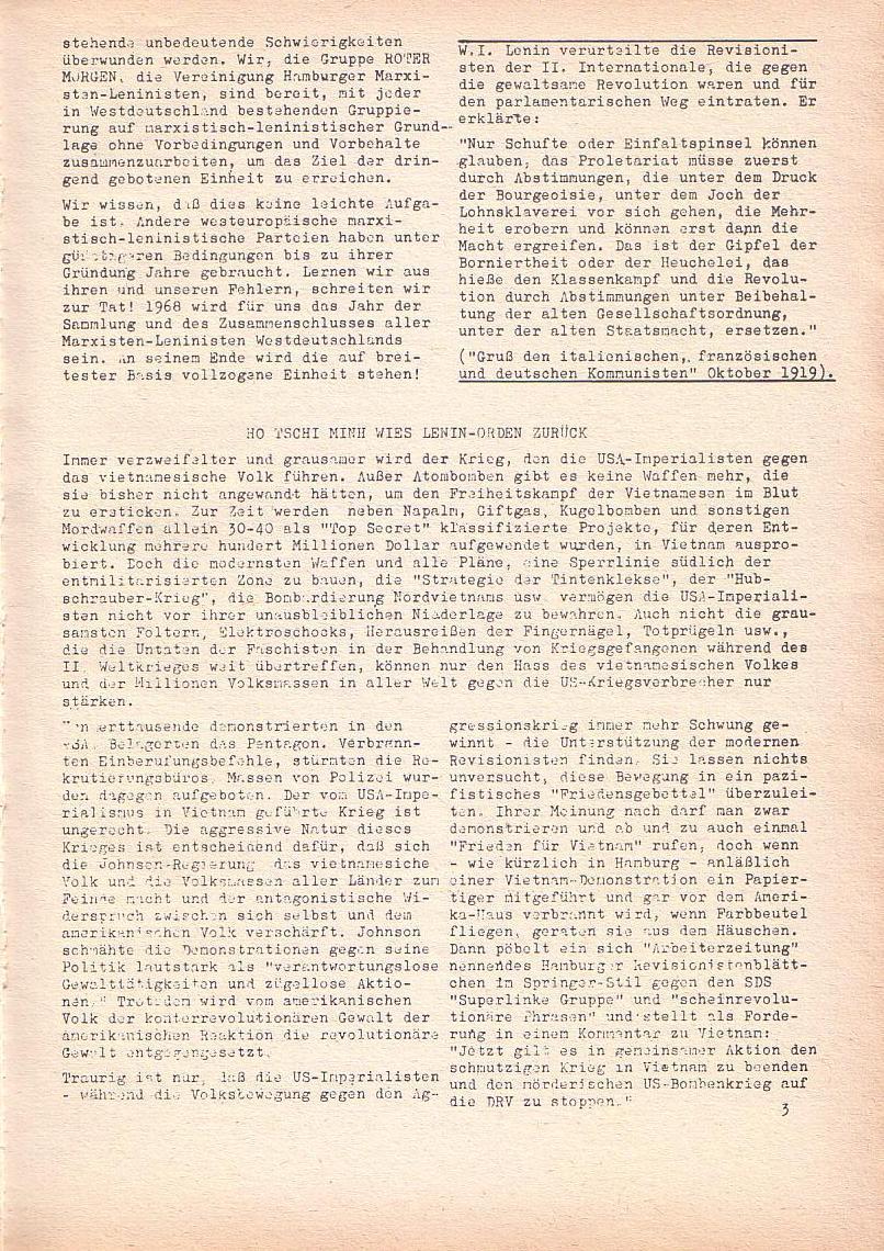Roter Morgen, 2. Jg., Jan. 1968, Seite 3