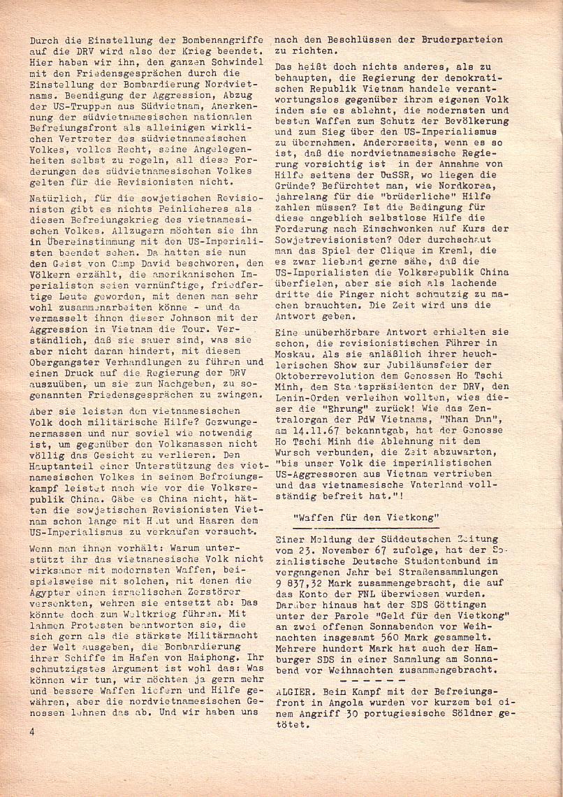 Roter Morgen, 2. Jg., Jan. 1968, Seite 4