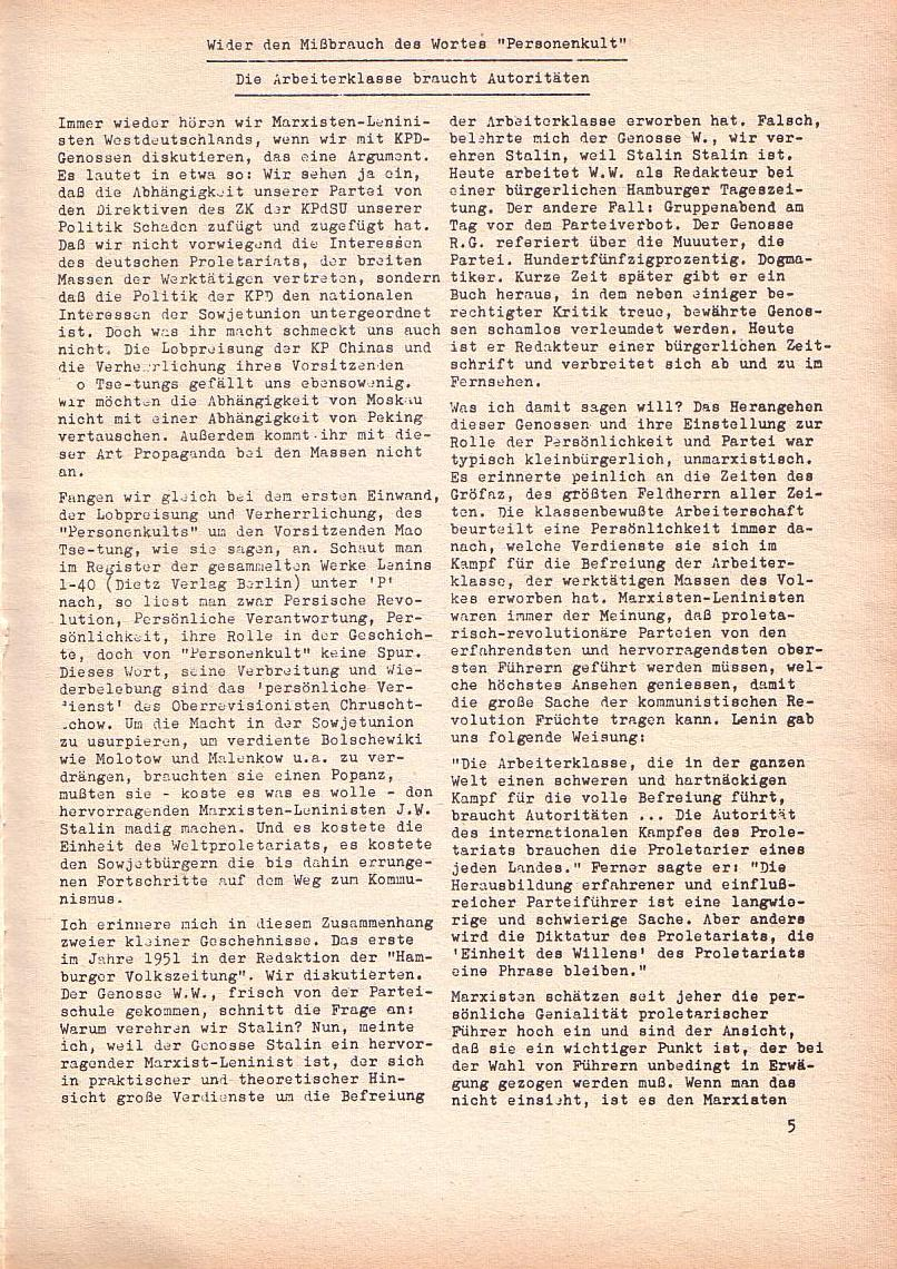 Roter Morgen, 2. Jg., Jan. 1968, Seite 5