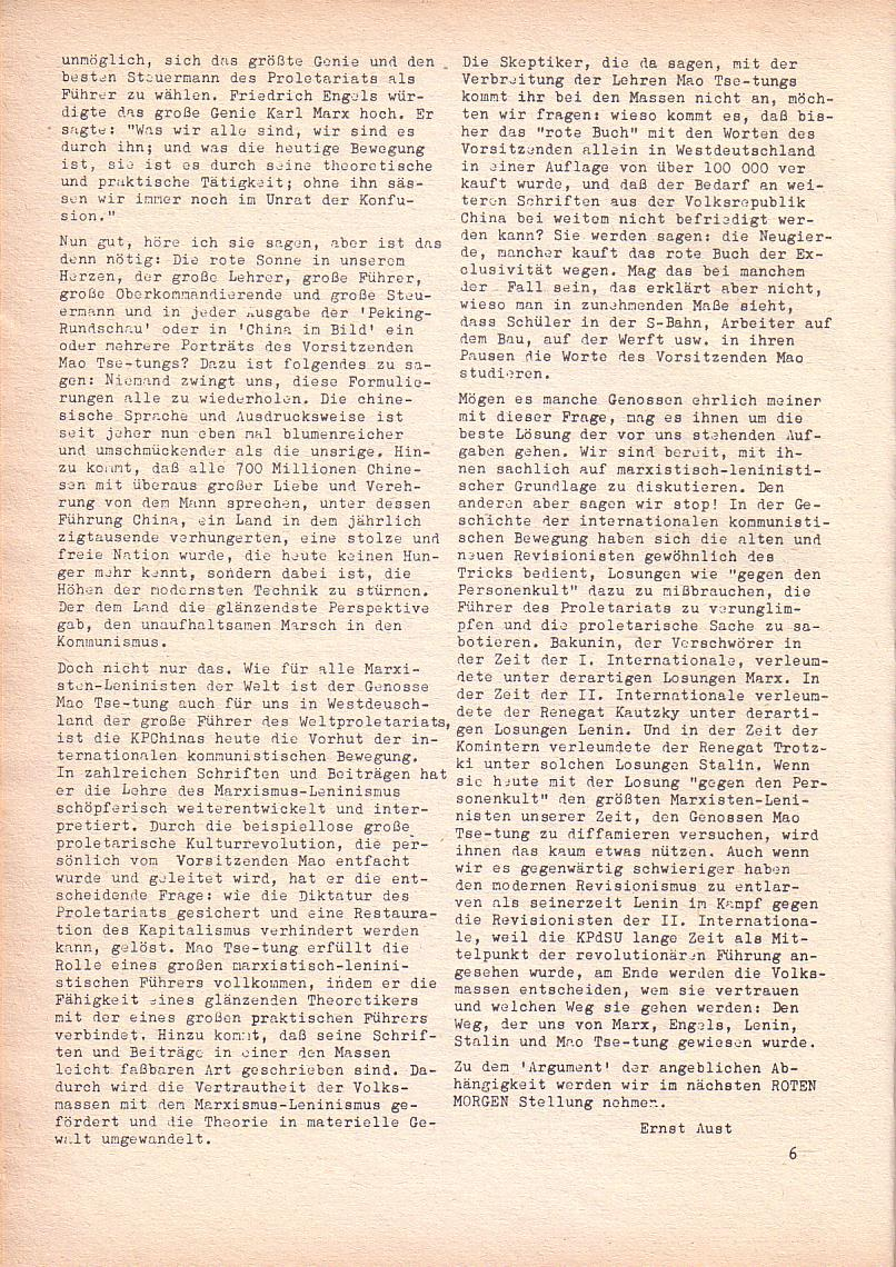 Roter Morgen, 2. Jg., Jan. 1968, Seite 6