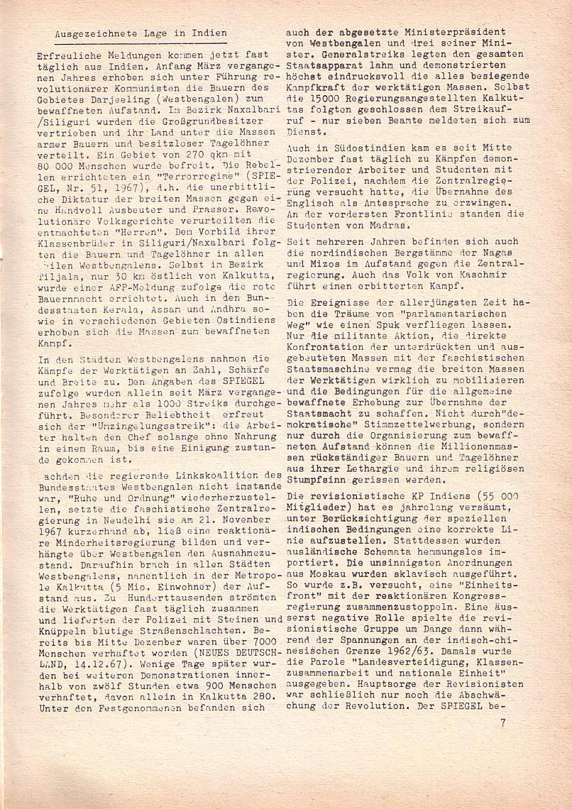 Roter Morgen, 2. Jg., Jan. 1968, Seite 7