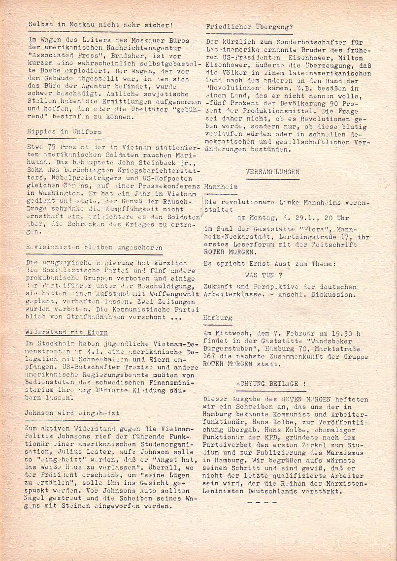 Roter Morgen, 2. Jg., Jan. 1968, Seite 10