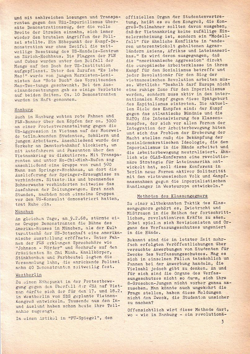 Roter Morgen, 2. Jg., Feb. 1968, Seite 3