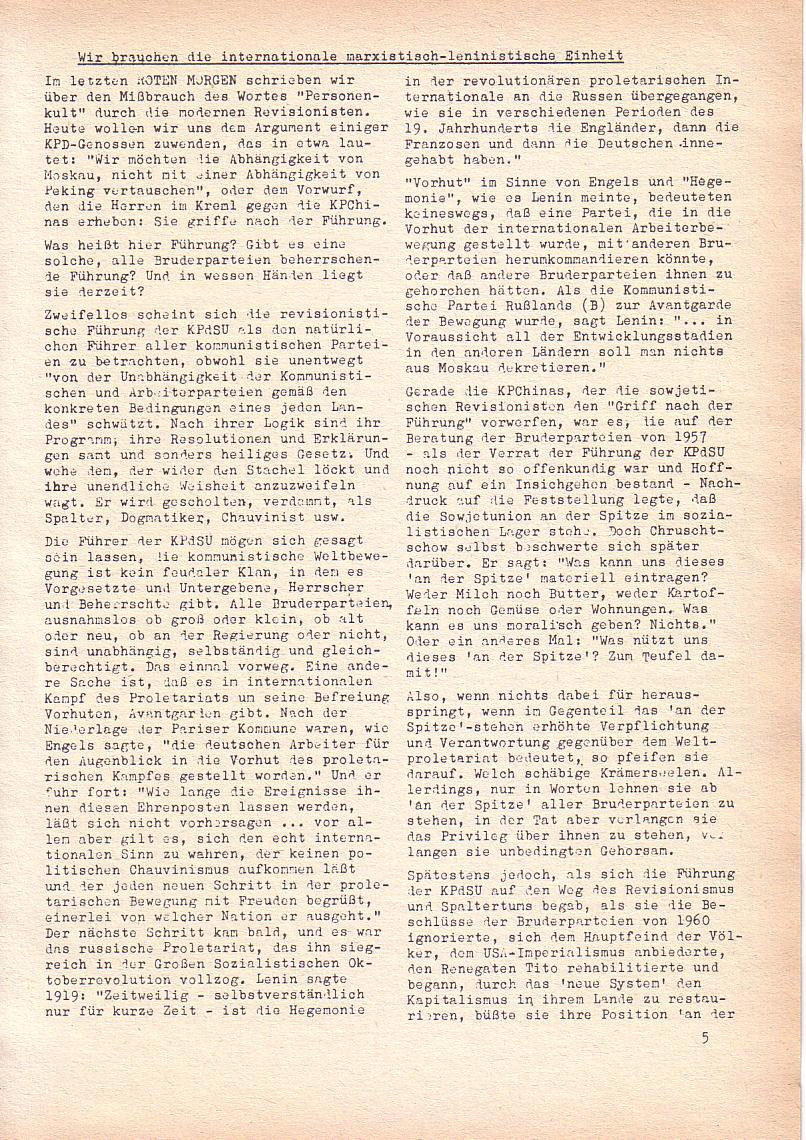 Roter Morgen, 2. Jg., Feb. 1968, Seite 5