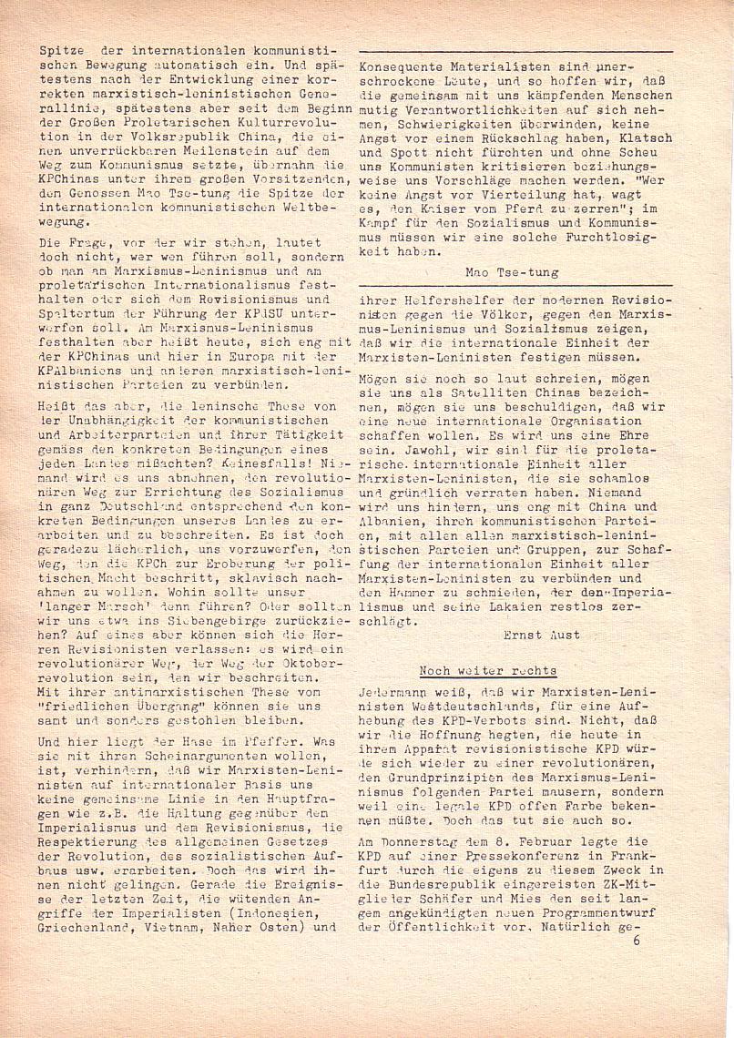 Roter Morgen, 2. Jg., Feb. 1968, Seite 6