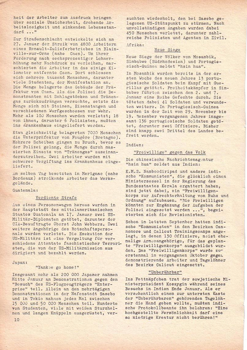 Roter Morgen, 2. Jg., Feb. 1968, Seite 10