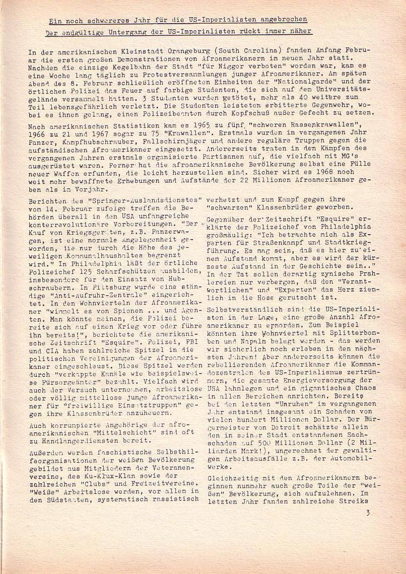 Roter Morgen, 2. Jg., März 1968, Seite 3