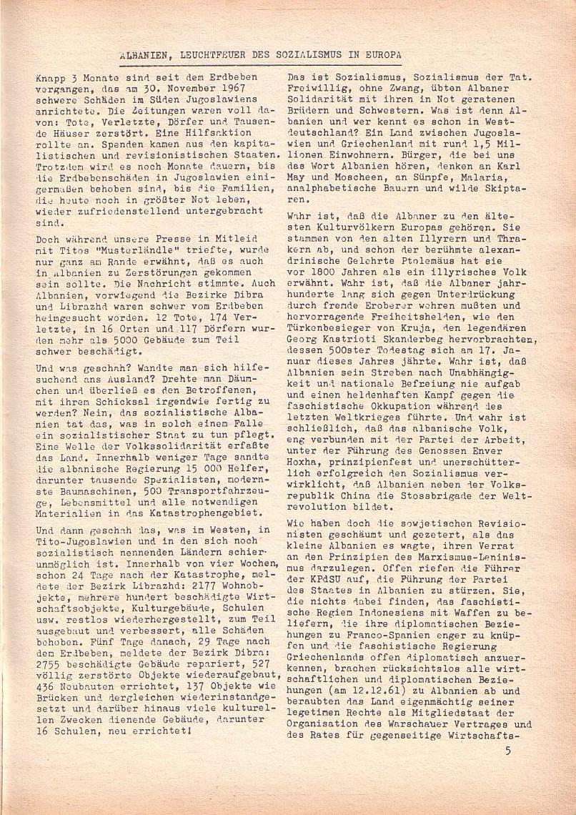 Roter Morgen, 2. Jg., März 1968, Seite 5