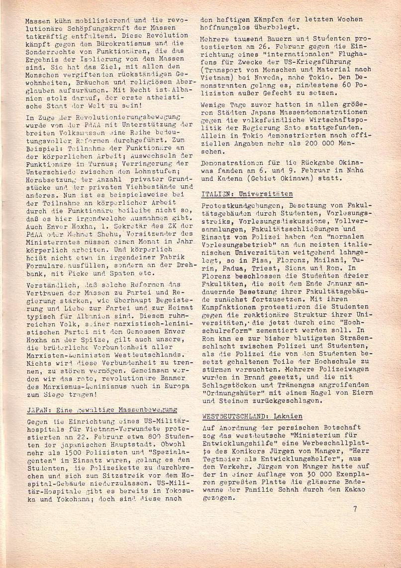 Roter Morgen, 2. Jg., März 1968, Seite 7