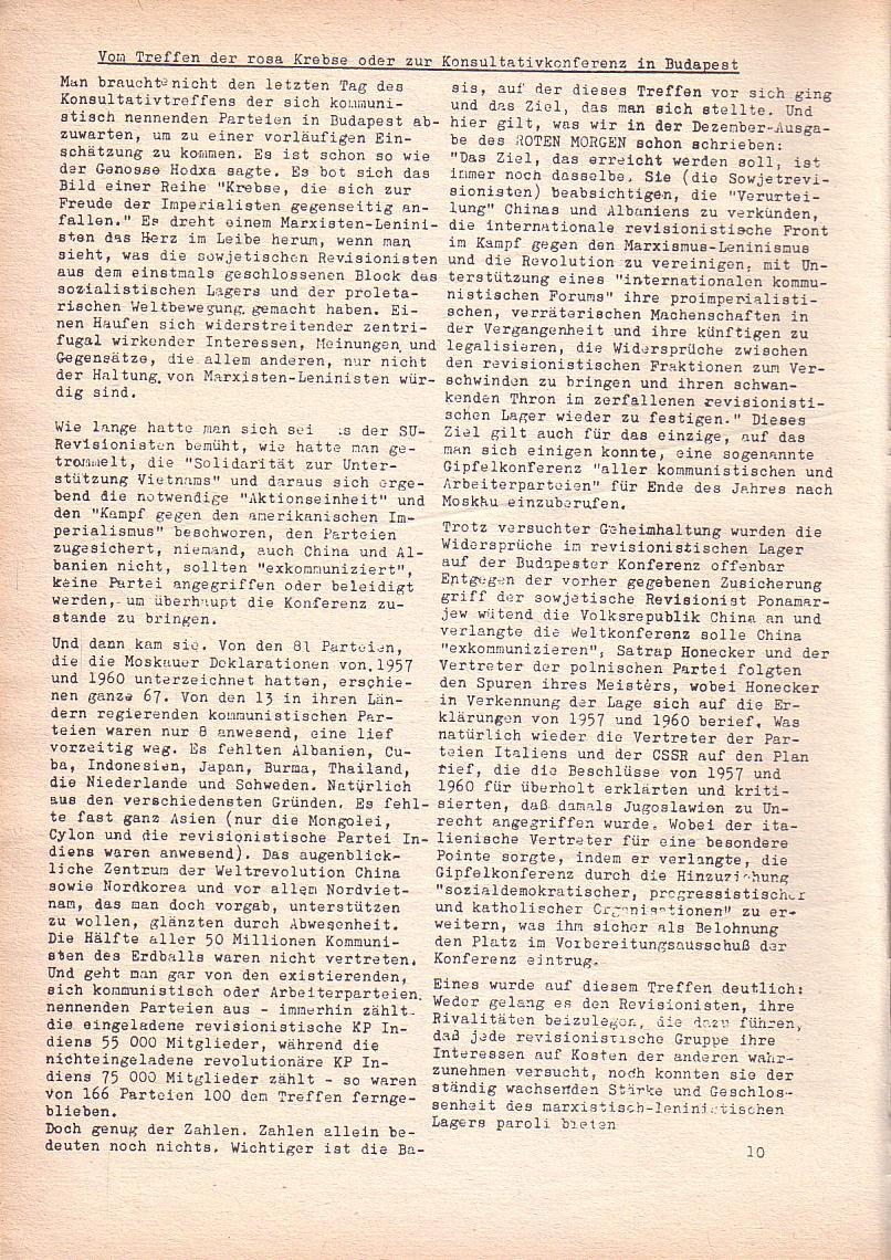 Roter Morgen, 2. Jg., März 1968, Seite 10
