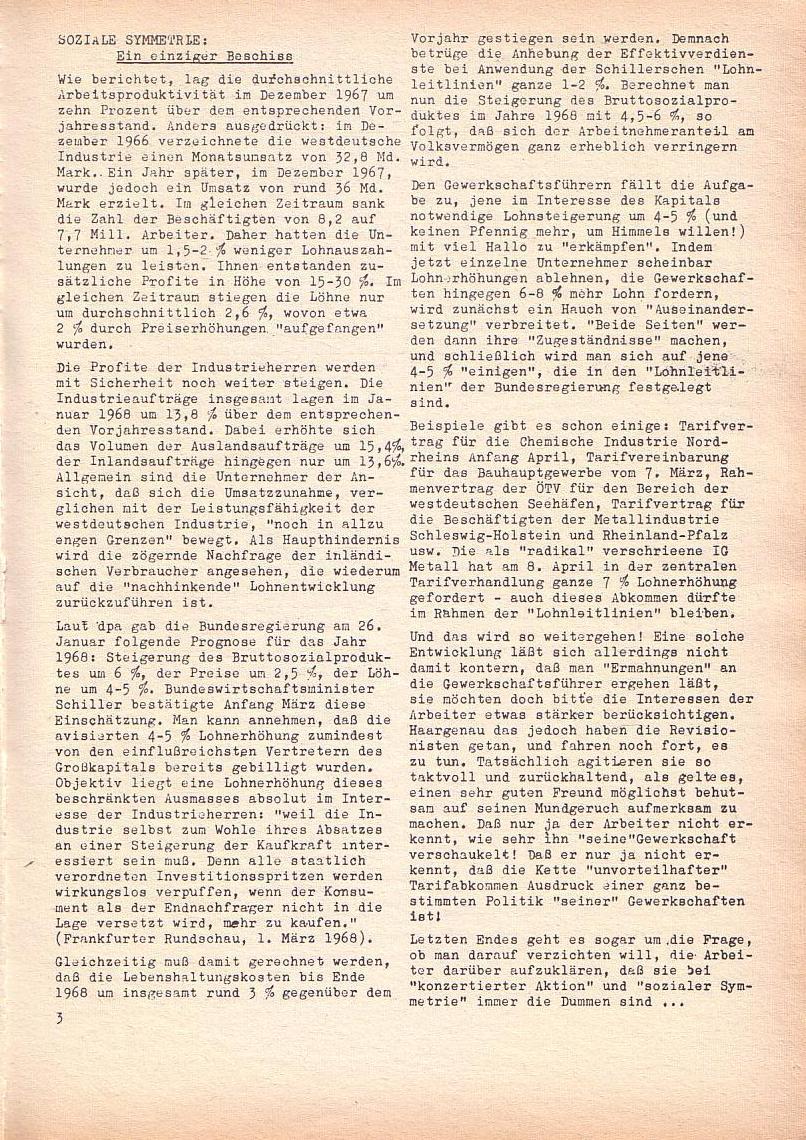 Roter Morgen, 2. Jg., April 1968, Seite 3