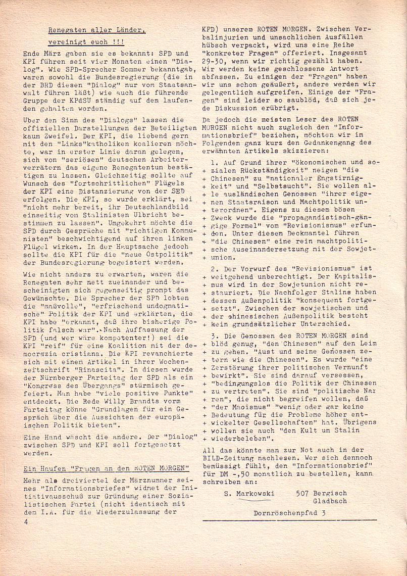 Roter Morgen, 2. Jg., April 1968, Seite 4