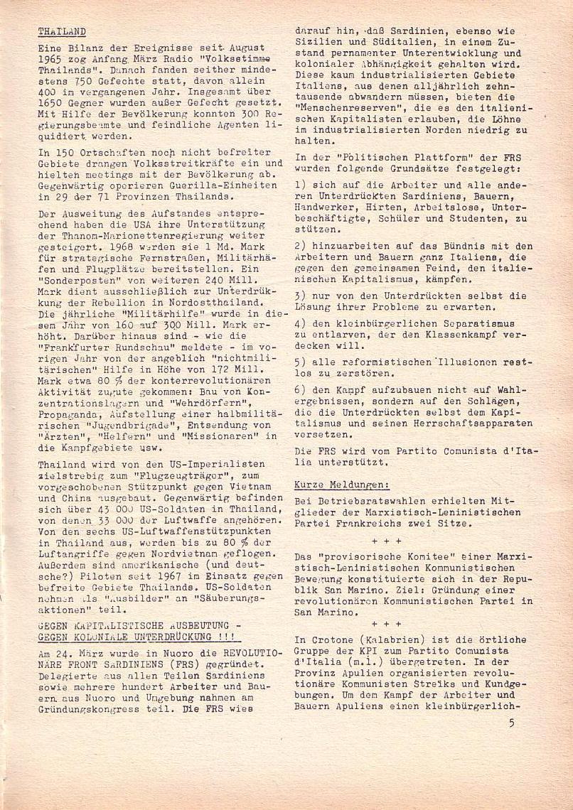 Roter Morgen, 2. Jg., April 1968, Seite 5