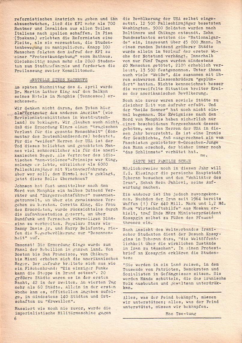 Roter Morgen, 2. Jg., April 1968, Seite 6