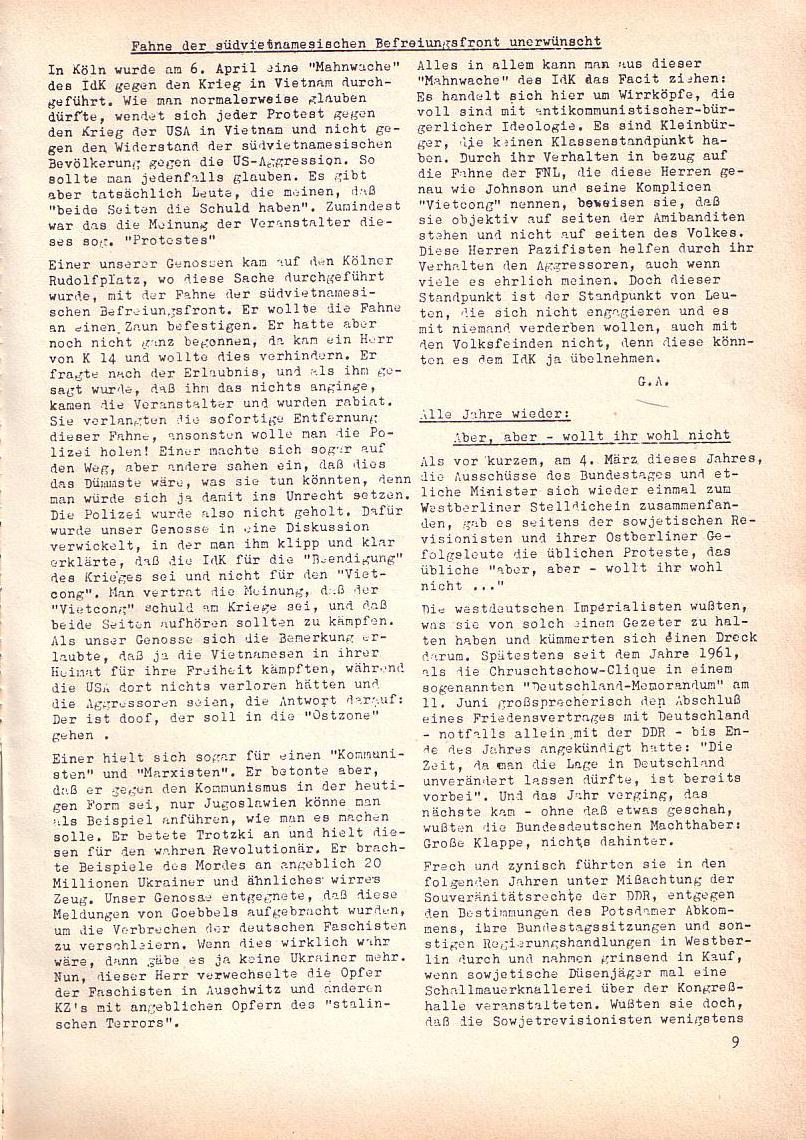 Roter Morgen, 2. Jg., April 1968, Seite 9