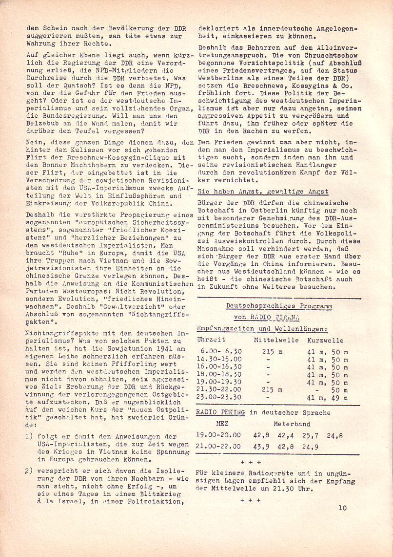 Roter Morgen, 2. Jg., April 1968, Seite 10