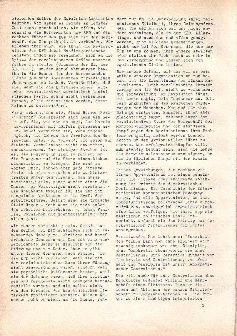 Roter Morgen, 2. Jg., Mai 1968, Seite 2