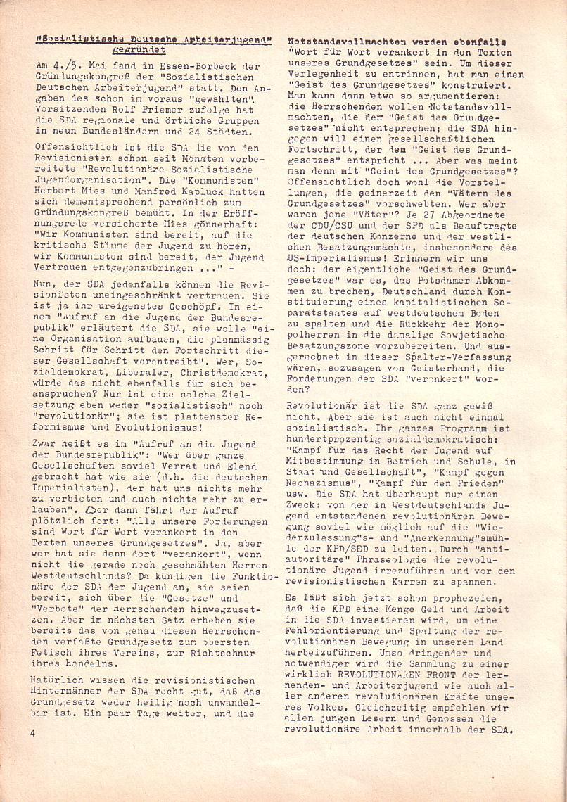 Roter Morgen, 2. Jg., Mai 1968, Seite 4