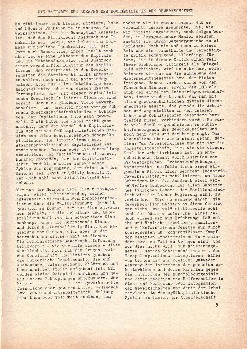 Roter Morgen, 2. Jg., Mai 1968, Seite 5
