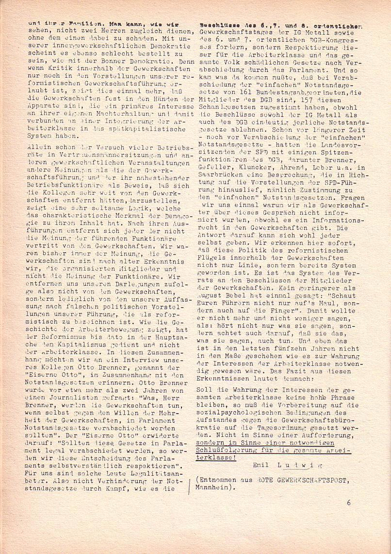 Roter Morgen, 2. Jg., Mai 1968, Seite 6