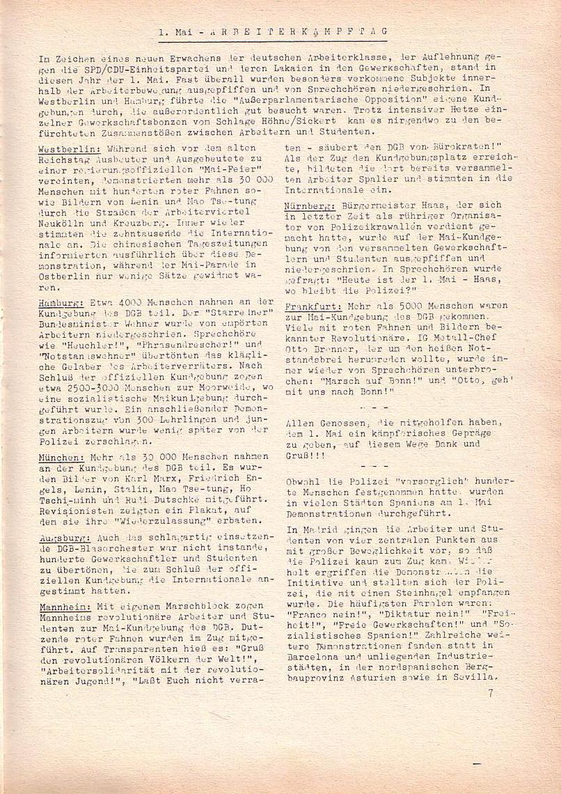 Roter Morgen, 2. Jg., Mai 1968, Seite 7