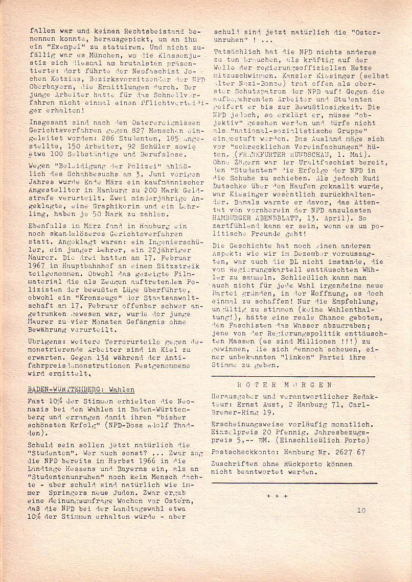 Roter Morgen, 2. Jg., Mai 1968, Seite 10