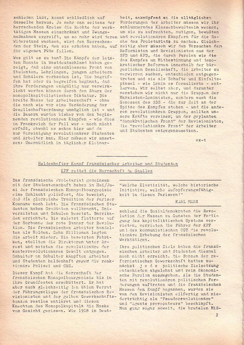Roter Morgen, 2. Jg., Juni 1968, Seite 2
