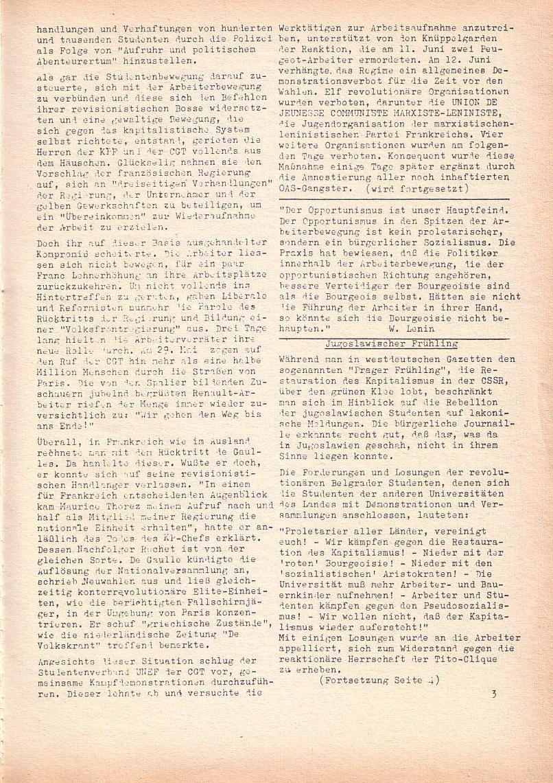 Roter Morgen, 2. Jg., Juni 1968, Seite 3