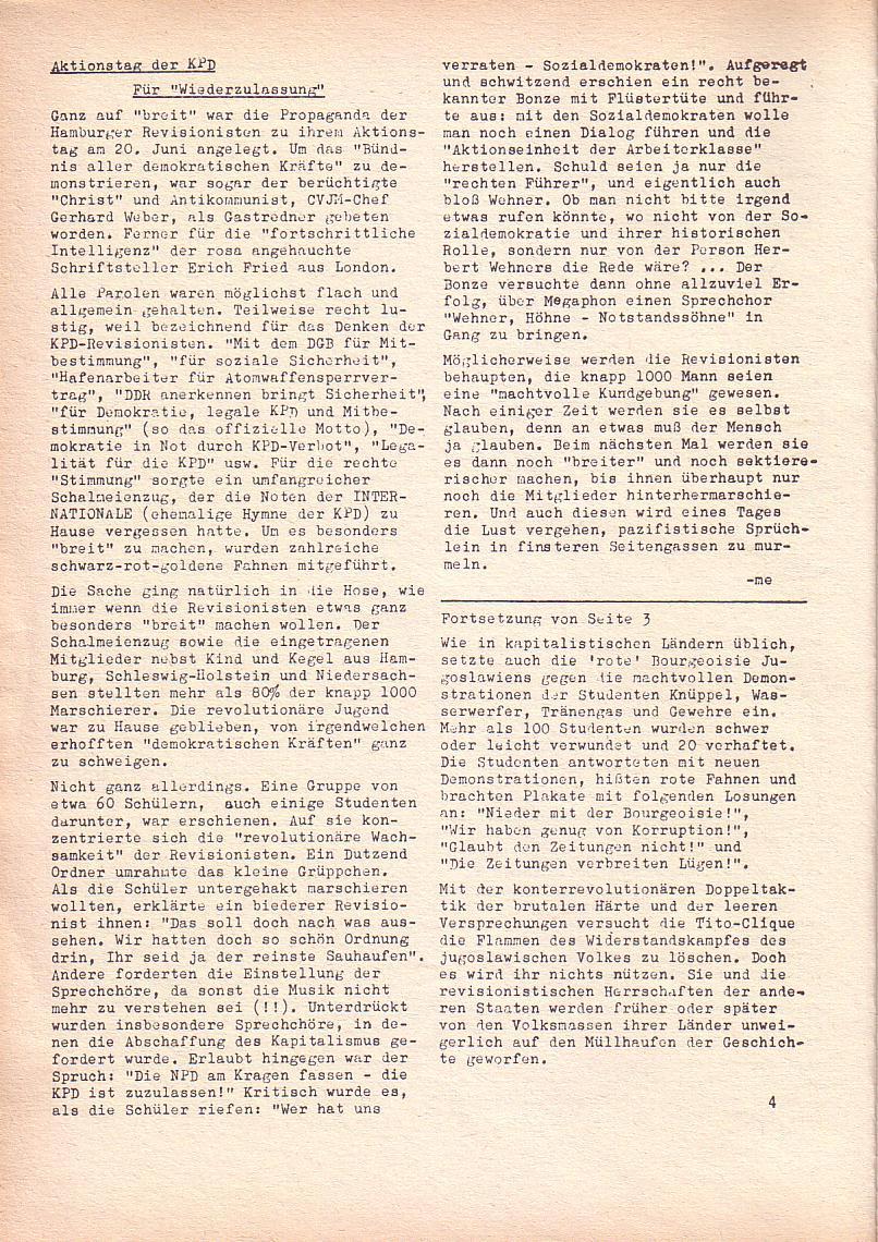 Roter Morgen, 2. Jg., Juni 1968, Seite 4