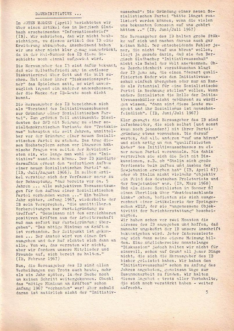 Roter Morgen, 2. Jg., Juni 1968, Seite 5