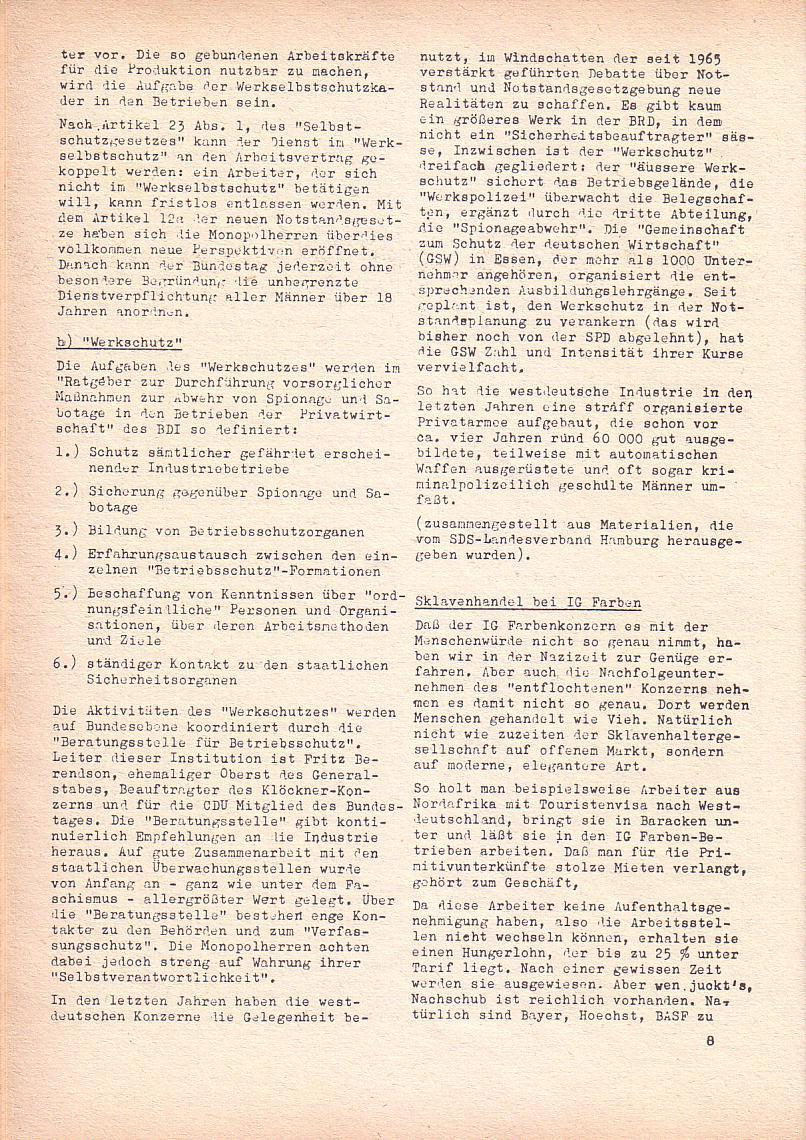 Roter Morgen, 2. Jg., Juni 1968, Seite 8