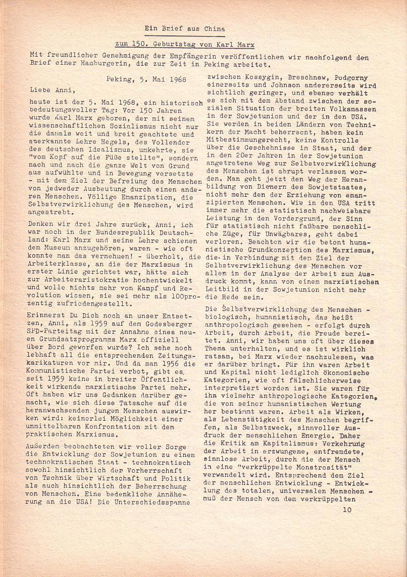 Roter Morgen, 2. Jg., Juni 1968, Seite 10