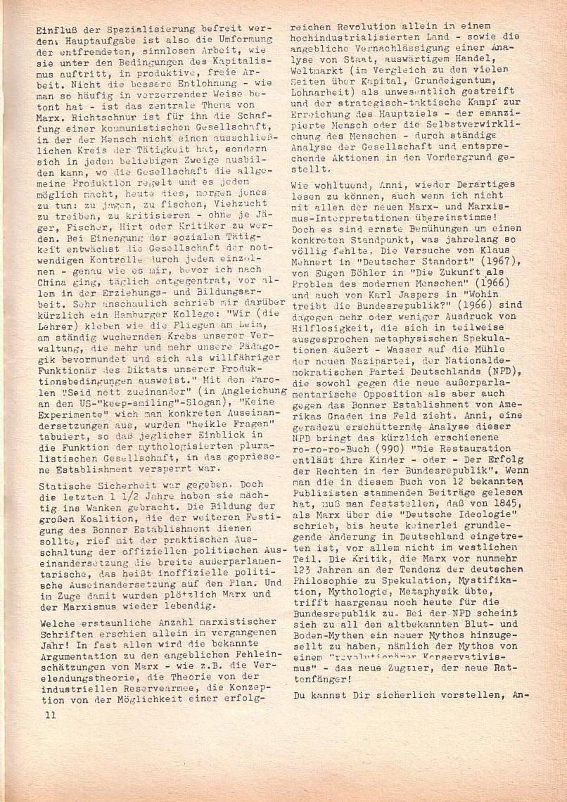 Roter Morgen, 2. Jg., Juni 1968, Seite 11