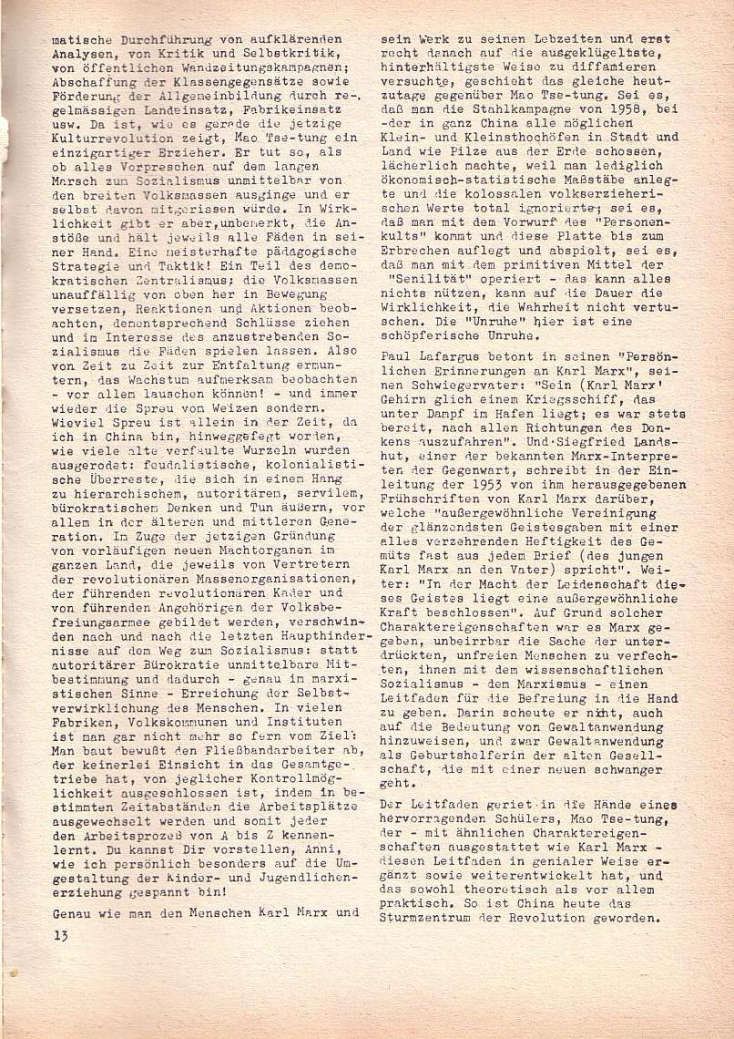 Roter Morgen, 2. Jg., Juni 1968, Seite 13