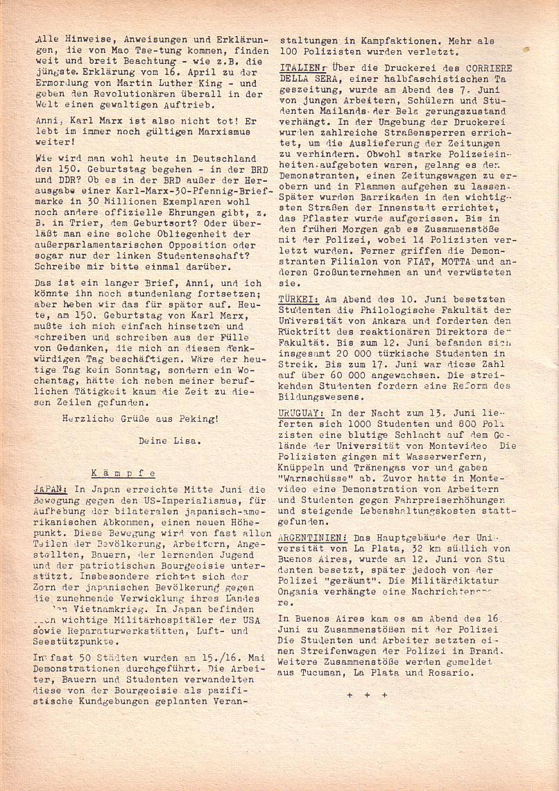 Roter Morgen, 2. Jg., Juni 1968, Seite 14