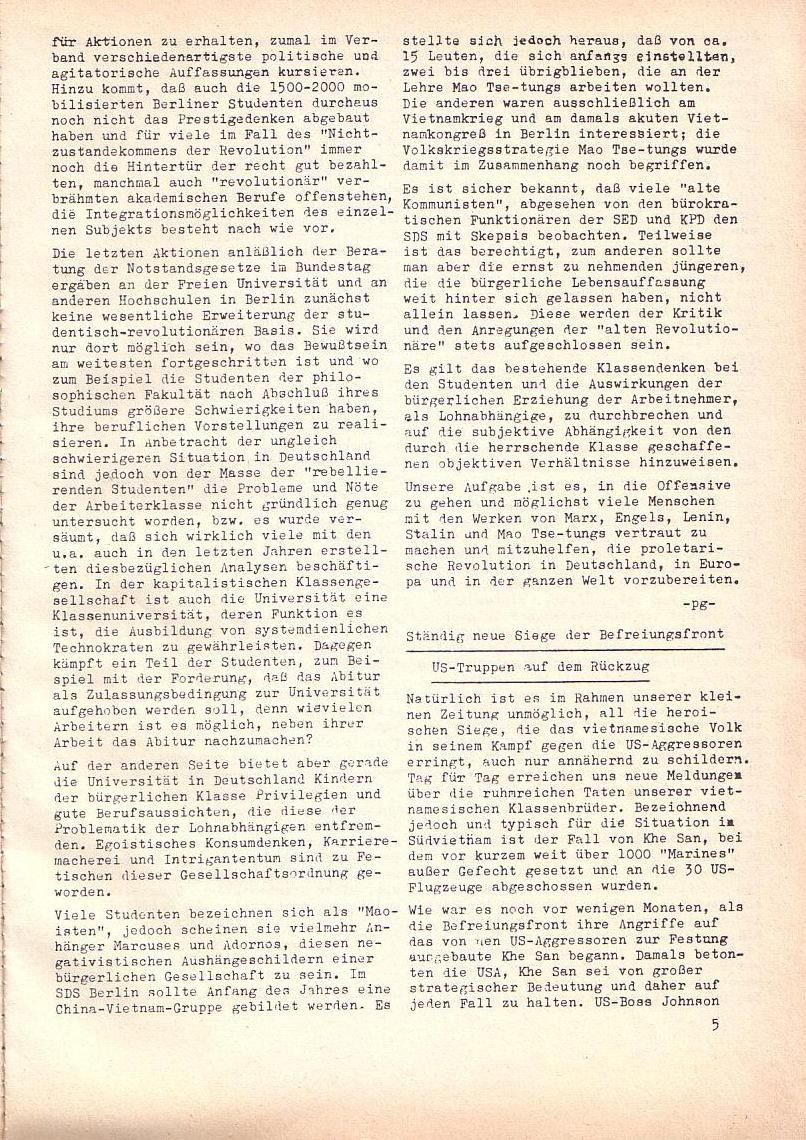 Roter Morgen, 2. Jg., Juli 1968, Seite 5