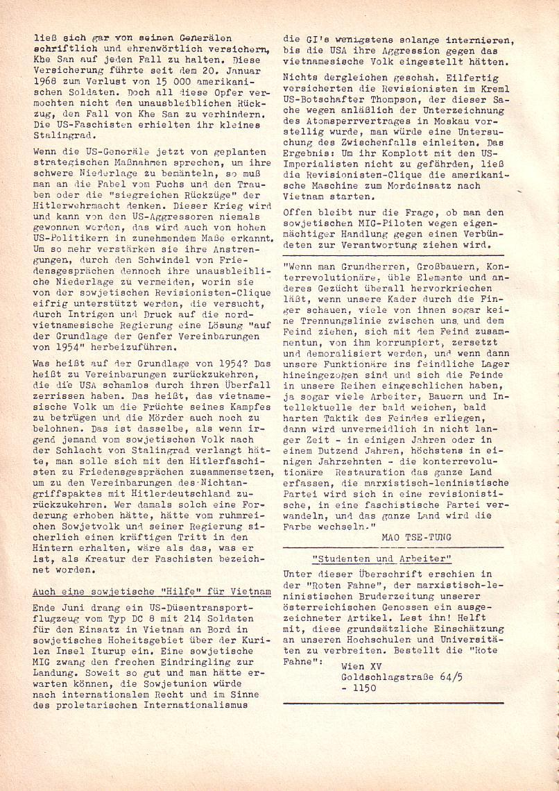 Roter Morgen, 2. Jg., Juli 1968, Seite 6