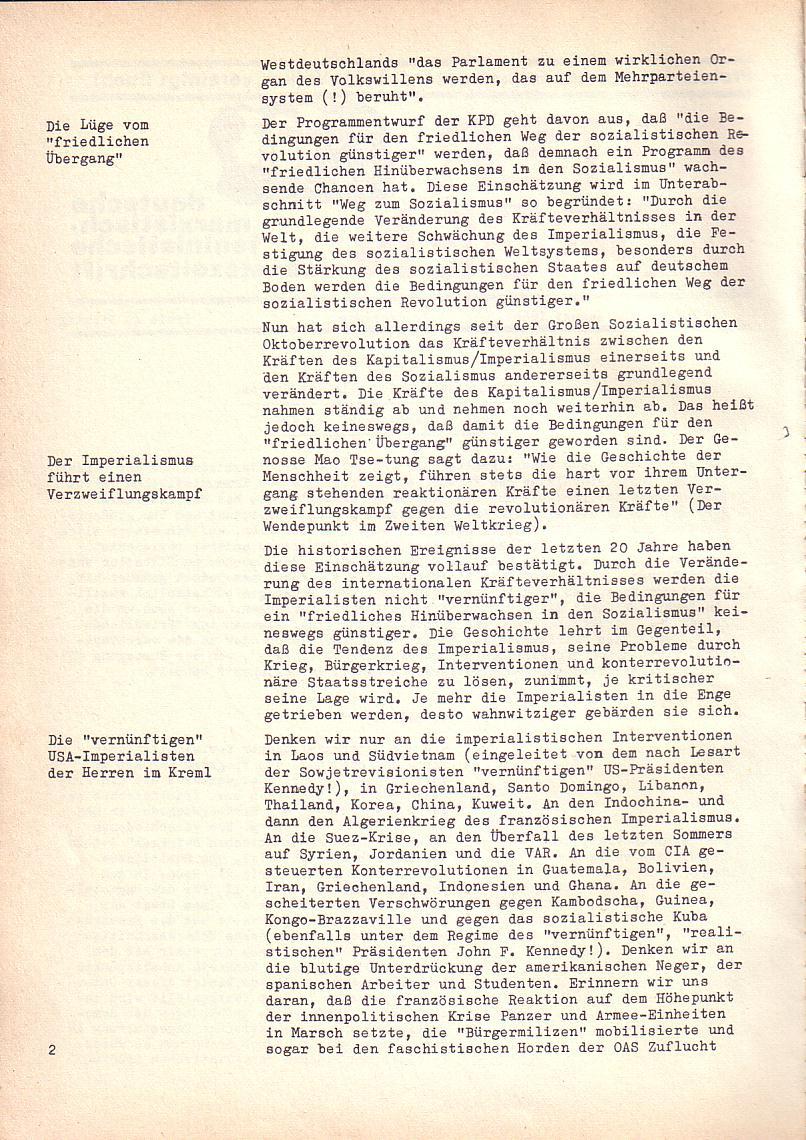 Roter Morgen, 2. Jg., Sonderausgabe August 1968, Seite 2