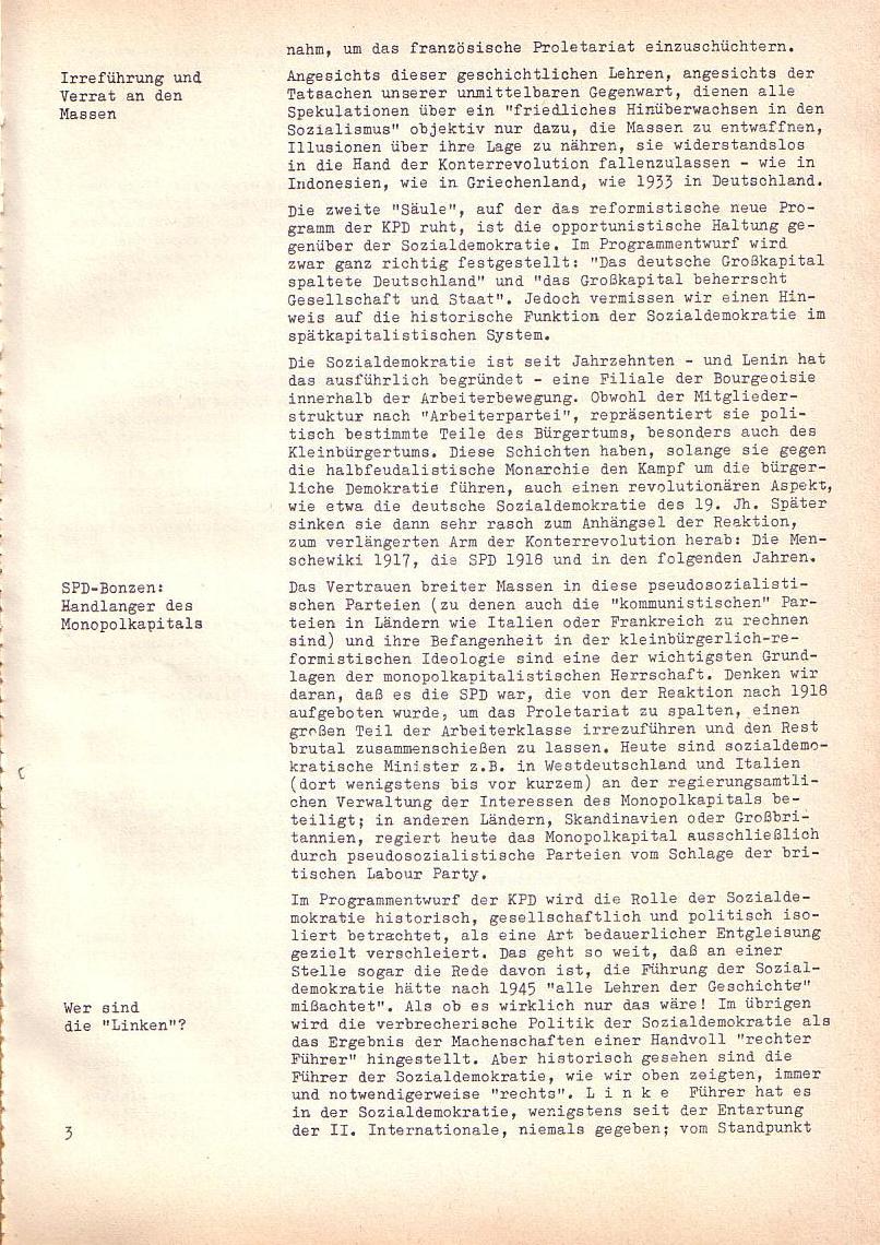 Roter Morgen, 2. Jg., Sonderausgabe August 1968, Seite 3