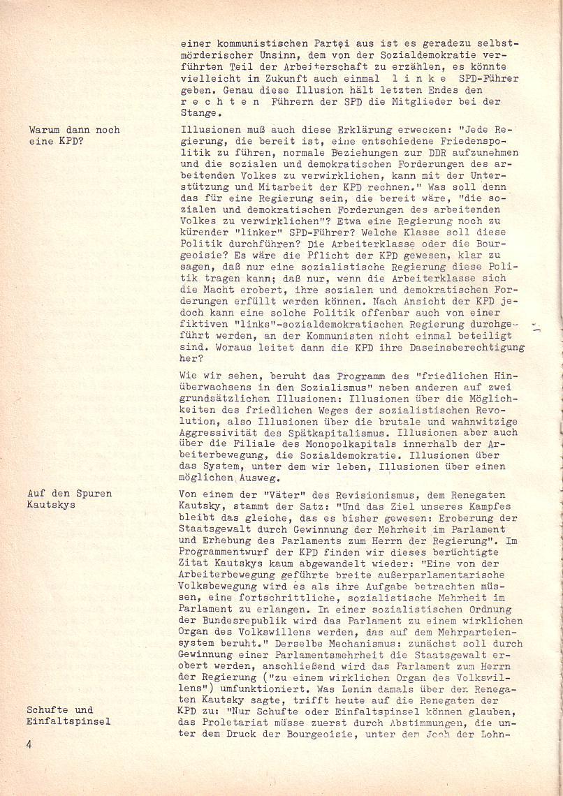 Roter Morgen, 2. Jg., Sonderausgabe August 1968, Seite 4