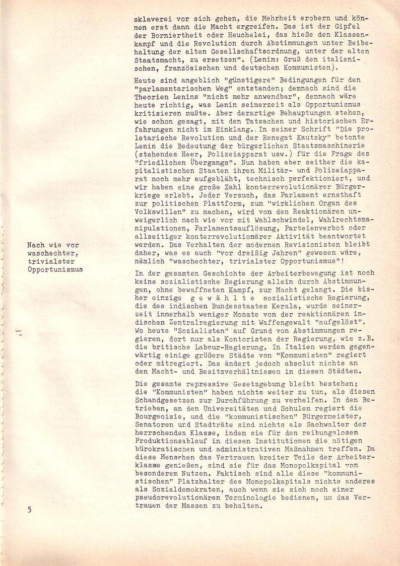 Roter Morgen, 2. Jg., Sonderausgabe August 1968, Seite 5