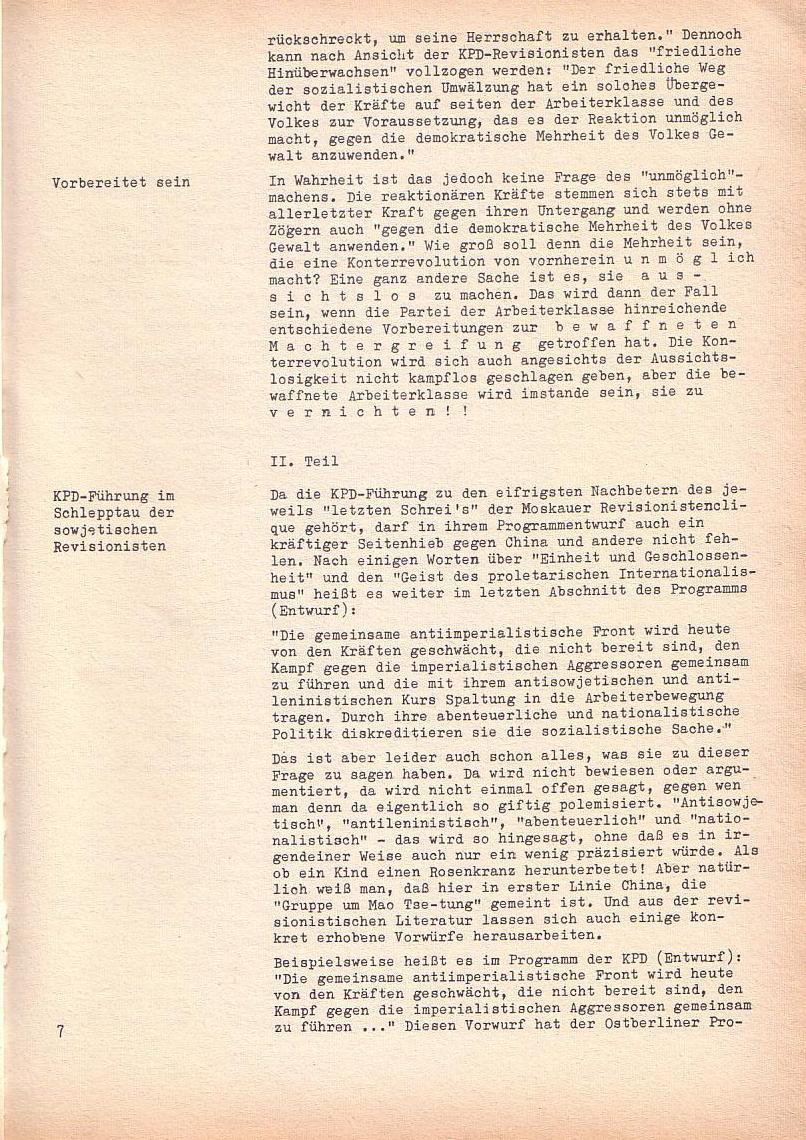 Roter Morgen, 2. Jg., Sonderausgabe August 1968, Seite 7