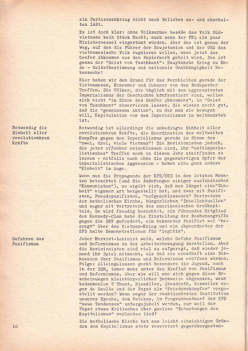 Roter Morgen, 2. Jg., Sonderausgabe August 1968, Seite 10