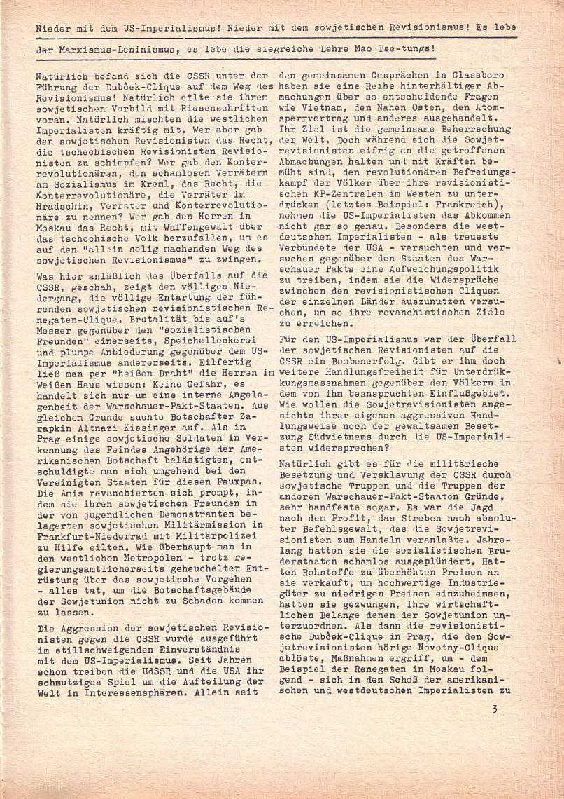 Roter Morgen, 2. Jg., Sept. 1968, Seite 3