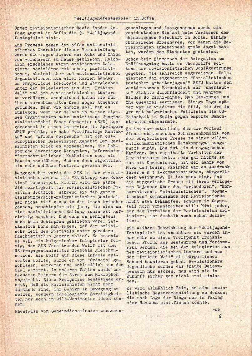 Roter Morgen, 2. Jg., Sept. 1968, Seite 6