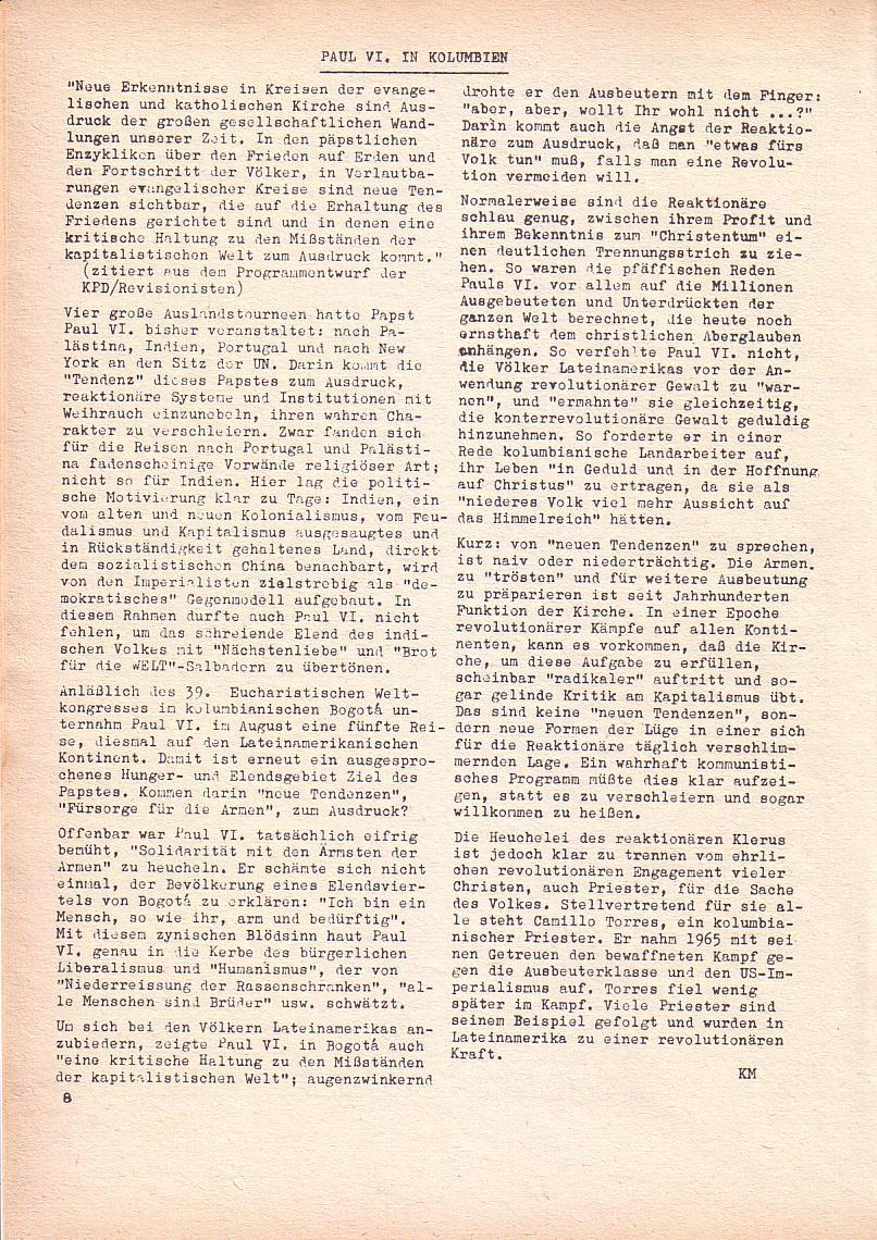 Roter Morgen, 2. Jg., Sept. 1968, Seite 8