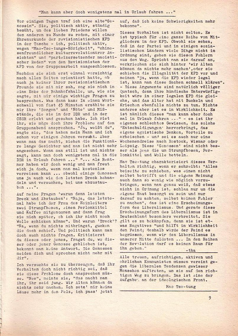 Roter Morgen, 2. Jg., Sept. 1968, Seite 9