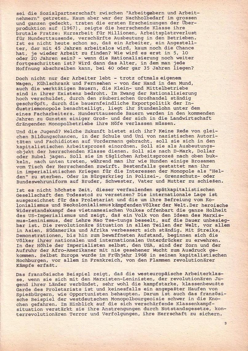 Roter Morgen, 2. Jg., Okt./Nov. 1968, Seite 3
