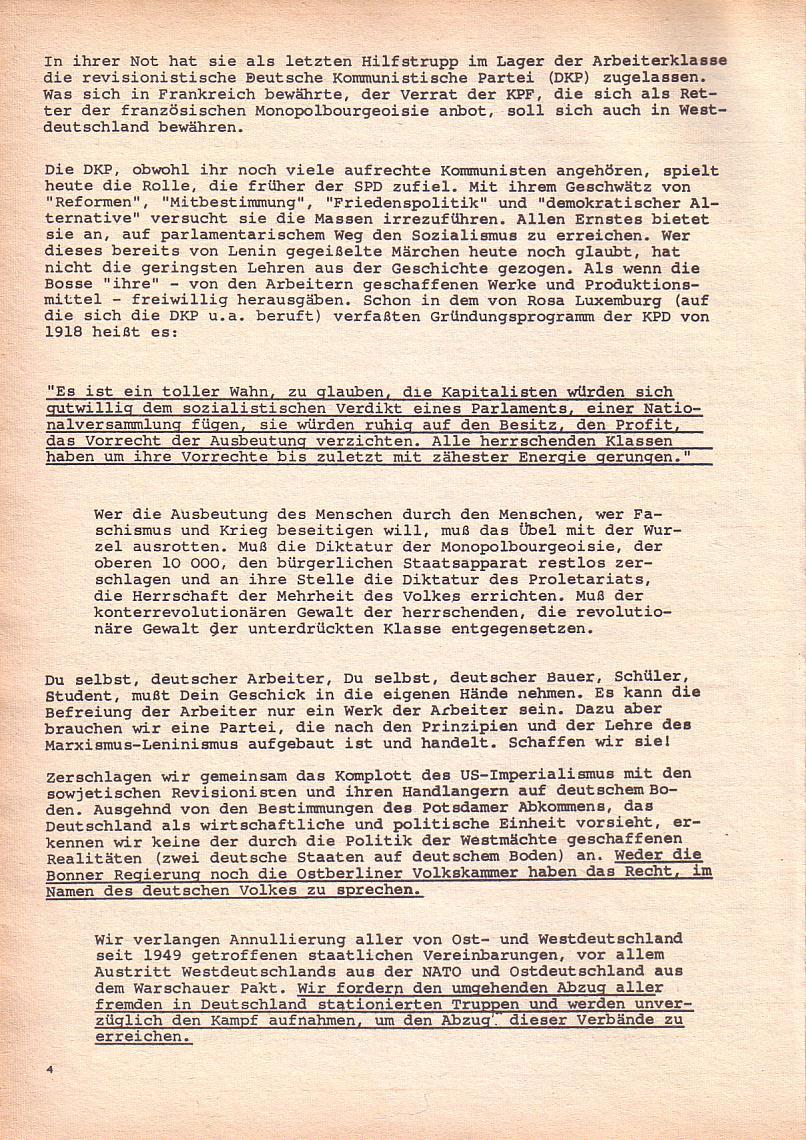 Roter Morgen, 2. Jg., Okt./Nov. 1968, Seite 4