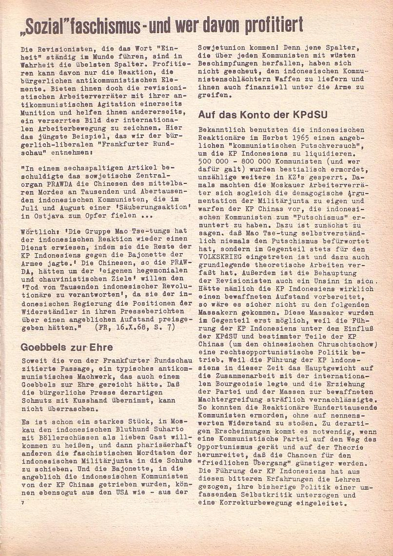 Roter Morgen, 2. Jg., Okt./Nov. 1968, Seite 7